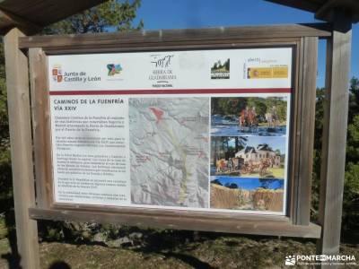 Calzada Romana - Fuenfría; rutas para caminar excursiones guadalajara viajes organizados en grupo v